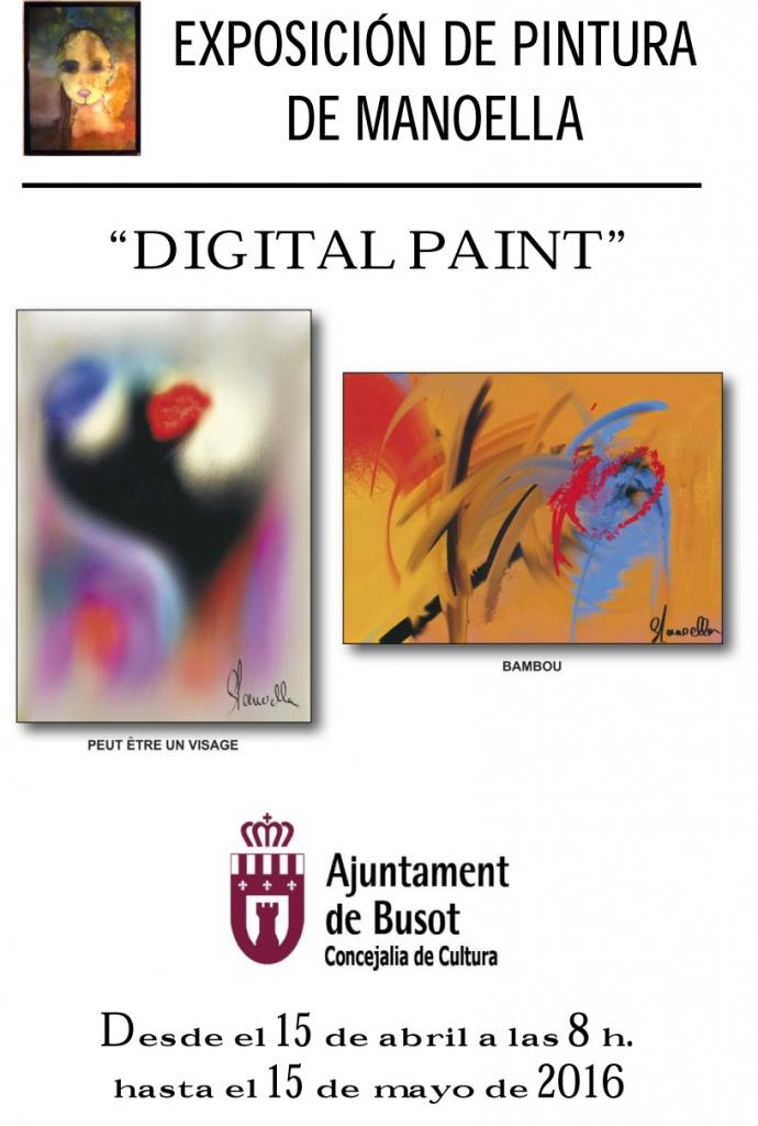 Exposición de pintura abril 2016 manoella digital paint